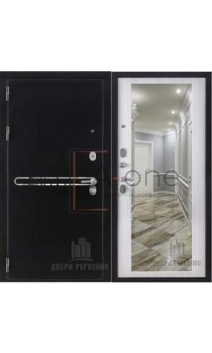 Входная дверь Президент S1Z Regidoors внутренняя панель зеркало сандал белый