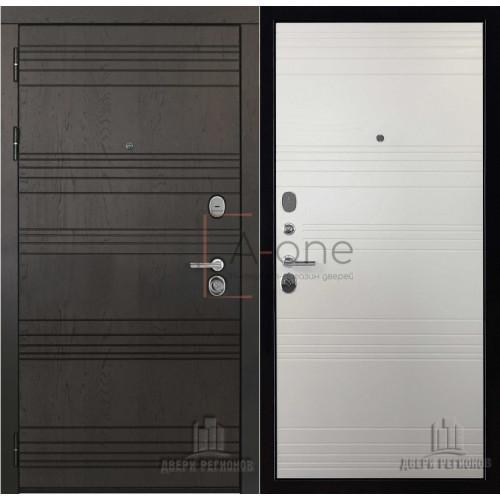 Министр входная дверь с белой внутренней панелью
