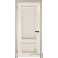 Ульяновские двери Британия полотно глухое цвет белый + патина серебро изготовление на заказ 700*2100