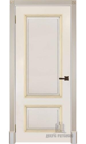Ульяновские двери Британия полотно глухое цвет белый + патина серебро изготовление на заказ 800*2100