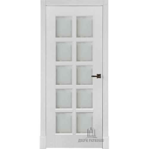 Ульяновские двери Калифорния полотно остекленное цвет белый  изготовление на заказ
