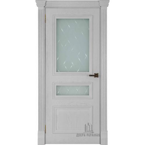 Ульяновские двери Regidoors Барселона натуральный шпон перла остекленное