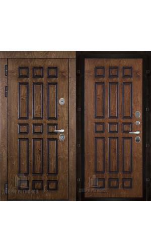 Базилика входная дверь палисандр с патиной