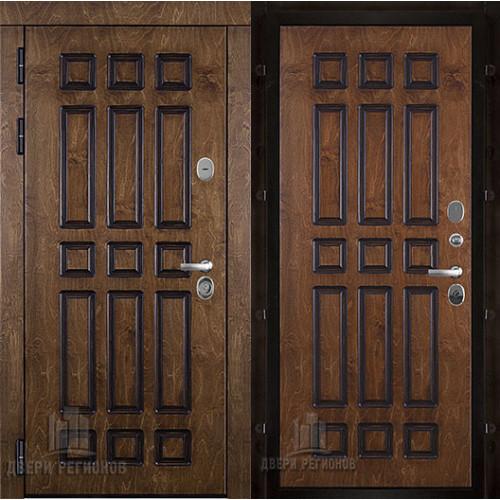 Базилика входная дверь палисандр с патиной c панелью золотой дуб