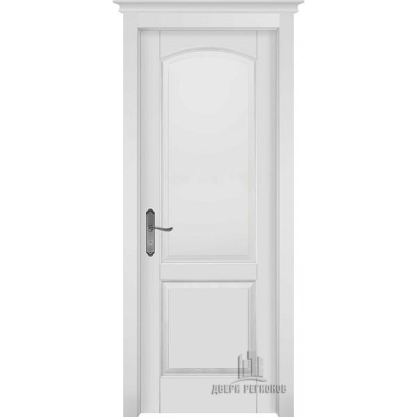 Белорусские двери из массива ольхи Фоборг белая эмаль глухое
