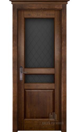 Белорусские двери из массива ольхи Гармония античный орех остекленное