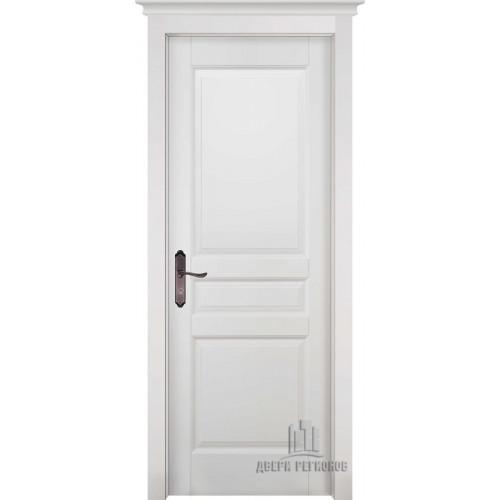 Белорусские двери из массива ольхи Гармония белая эмаль глухое
