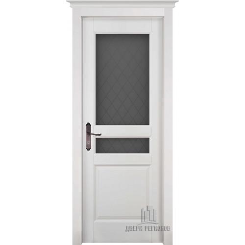 Белорусские двери из массива ольхи Гармония белая эмаль остекленное