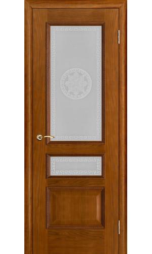 Белорусские двери PORTE VISTА Вена стекло античный дуб тон 14