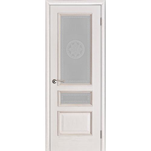 Белорусские двери PORTE VISTА Вена стекло цвет белая патина тон 17