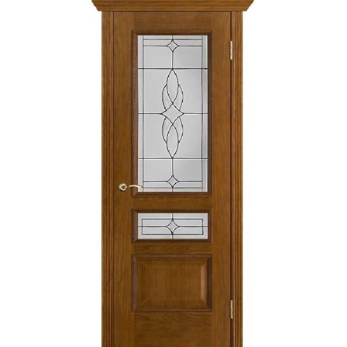 Белорусские двери PORTE VISTА Вена витраж античный дуб тон 14