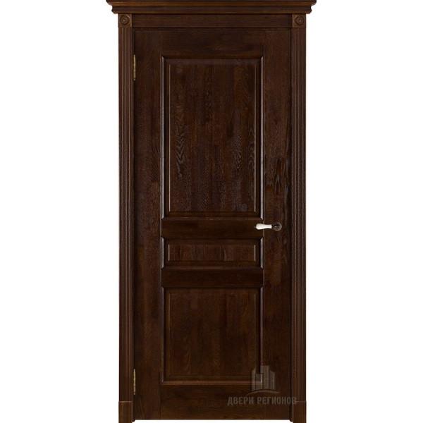 Белорусские двери Виктория массив дуба, античный орех глухое