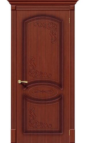 Двери межкомнатные Браво Азалия шпонированная макоре ф-15 глухая