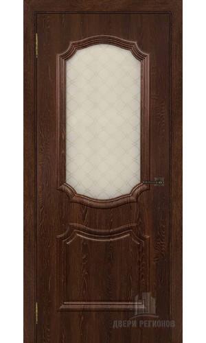 Дверь Асти межкомнатная цвет коньяк остекленная