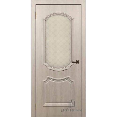 Дверь Асти межкомнатная цвет крем остекленная
