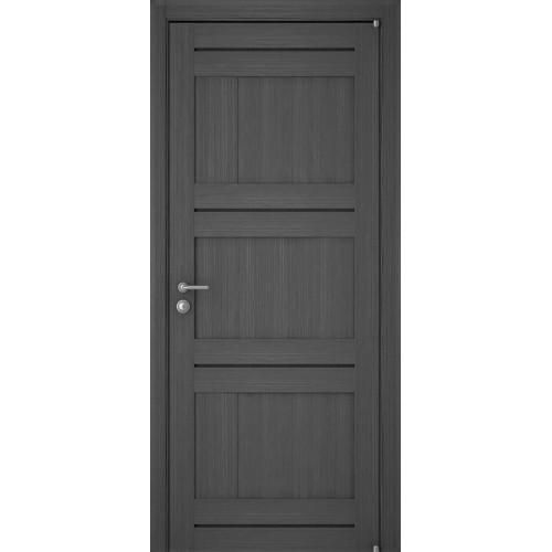 Двери межкомнатные экошпон Uberture Light 2180 цвет графит велюр