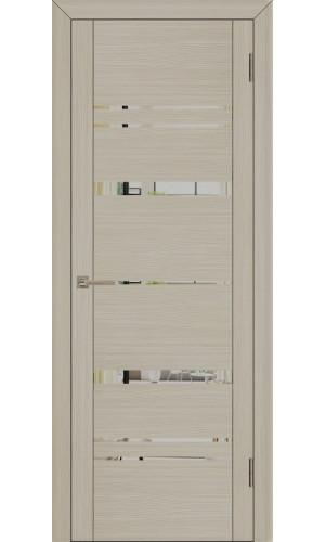 Двери межкомнатные экошпон Uberture Uniline 30027 цвет капучино велюр