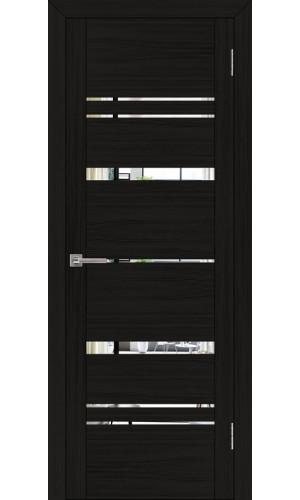 Двери межкомнатные экошпон Uberture Uniline 30027 цвет шоко велюр