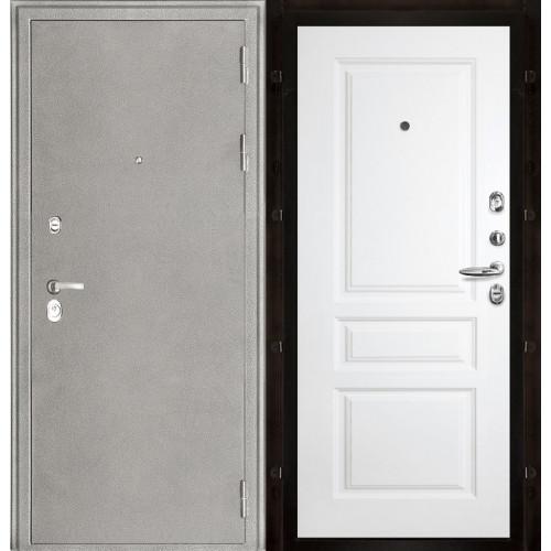 Белая входная дверь Колизей с белой панелью Турин эмаль