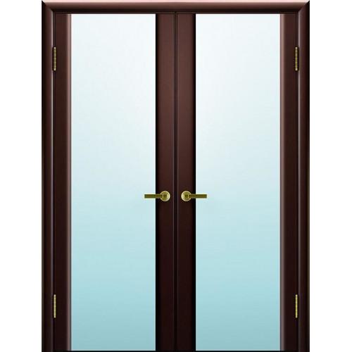 Двустворчатые распашные двери Техно 3 венге