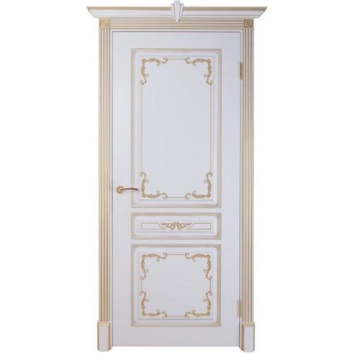 Вена — 2 дверь эмаль белая с патиной золото
