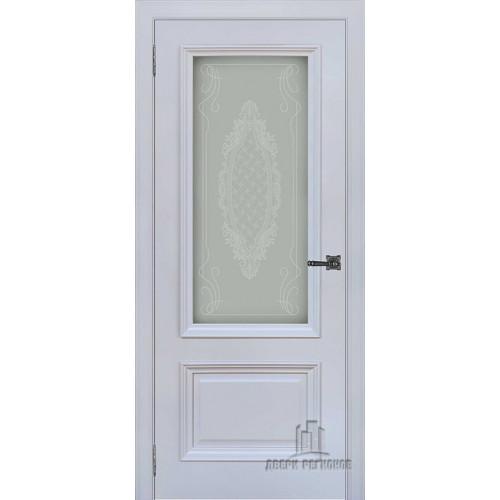 Неаполь 1 дверь межкомнатная серый шелк Ral 7047 остекленная