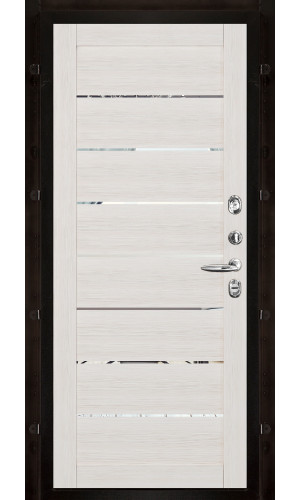 Панель для входной двери экошпон Light 2125 капучино вставки зеркало