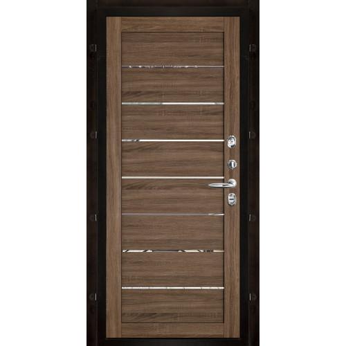 Панель для входной двери экошпон Light 2125 серый велюр вставки зеркало