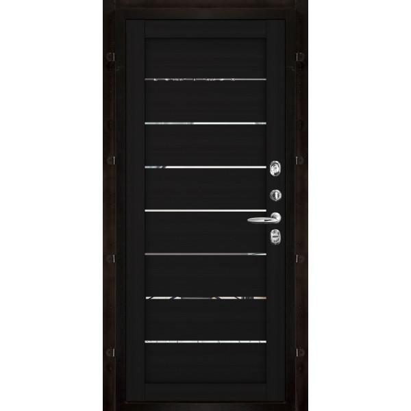 Панель для входной двери экошпон Light 2125 шоко велюр вставки зеркало