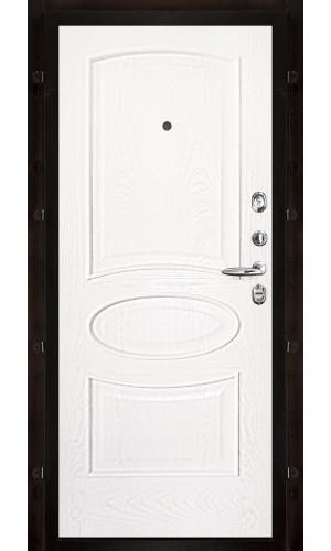 Панель для входной двери шпон Оливия ясень жемчуг