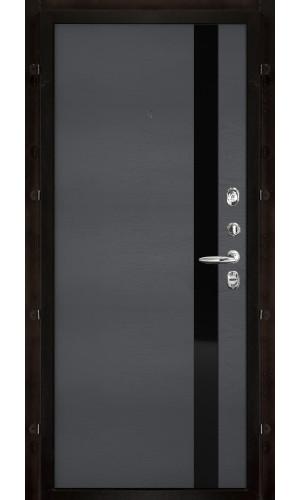Панель для входной двери шпон Uno grigio ral 7015