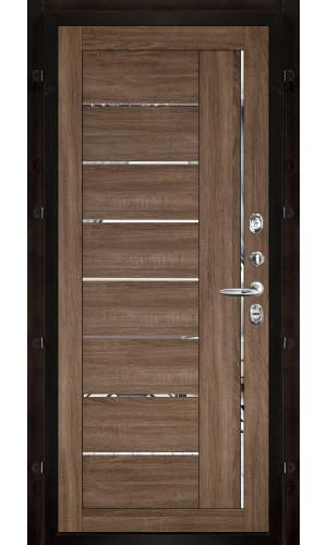 Панель для входной двери экошпон Light 2110 серый велюр вставки зеркало