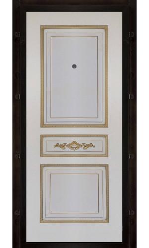 Панель для входной двери Лацио эмаль слоновая кость с патиной золото