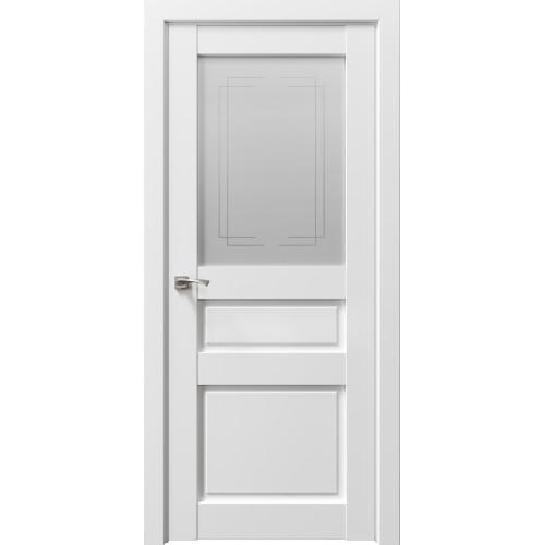 Дверь межкомнатная Сицилия 90002 Снежная королева Остекленная