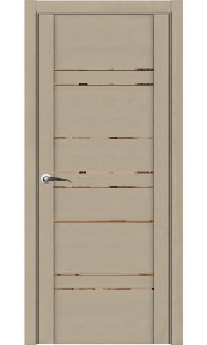Дверь Uniline 30032 софт кремовый зеркало бронза экошпон soft touch