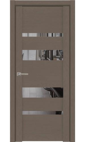 Дверь Uniline 30013 софт тортора зеркало grey экошпон soft touch