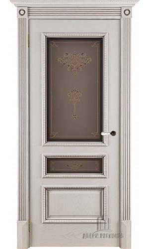 Белорусские двери PORTE VISTА Вена стекло цвет патина нефрит тон 2