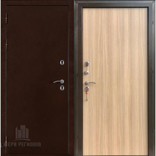 Термо 3 входная уличная дверь с терморазрывом цвет антик медь, панель цвет дуб ардеш