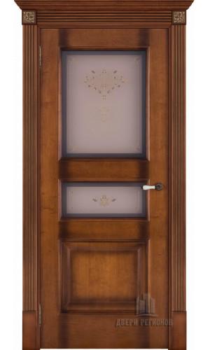 Дверь Терзо светлый мед тон 5 стекло кристалайз