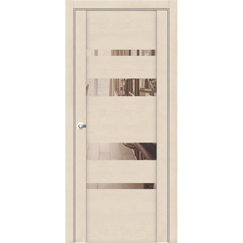 Дверь Uniline 30013 софт кремовый зеркало бронза экошпон soft touch