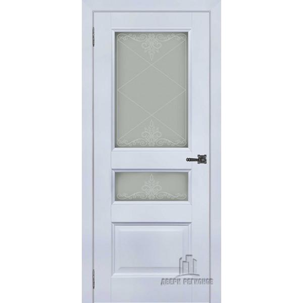 Ульяновская межкомнатная дверь Аликанте 2 серый шелк RAL 7047 остекленная - Двери межкомнатные и двери входные