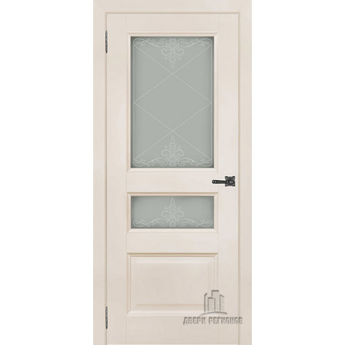 Ульяновская межкомнатная дверь Аликанте 2 слоновая кость RAL 9001 остекленная - Двери межкомнатные и двери входные