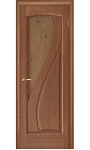Ульяновские двери Regidoors Мария натуральный шпон анегри темный тон 74 остекленное