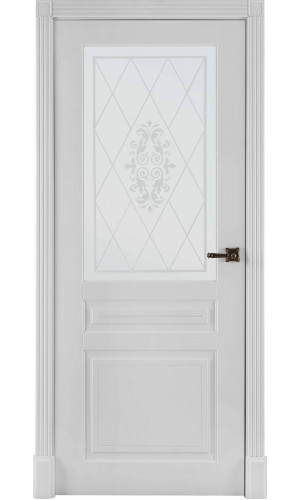 Ульяновские двери Regidoors Турин дверь эмаль белая остекленное