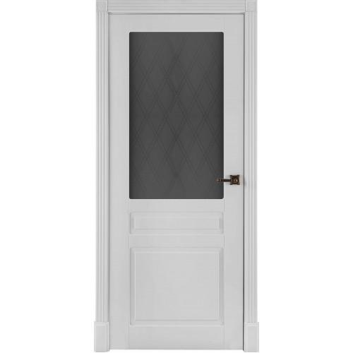 Ульяновские двери Прага белая эмаль, остекленная, межкомнатная
