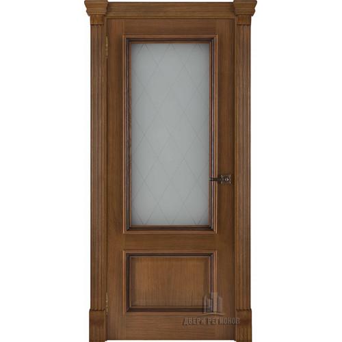 Ульяновские двери Regidoors Корсика натуральный шпон дуб антико остекленное