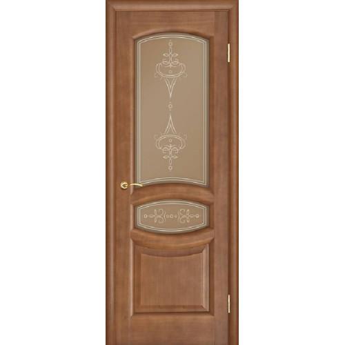 Ульяновские двери Regidoors Анастасия натуральный шпон анегри темный тон 74 остекленное