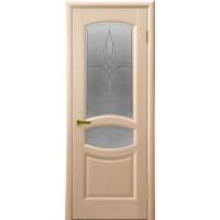 Ульяновские двери Анастасия натуральный шпон беленый дуб остекленное