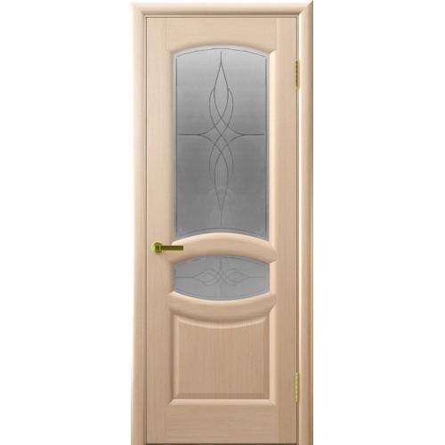 Ульяновские двери Regidoors Анастасия натуральный шпон беленый дуб остекленное