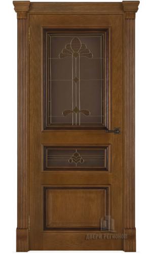 Ульяновские двери Regidoors Барселона натуральный шпон дуб антико остекленное